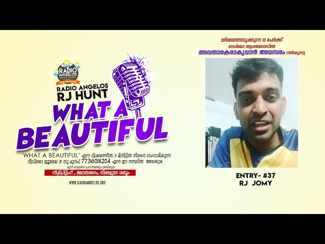 #37 RJ JOMY || WHAT A BEAUTIFUL || RJ HUNT ENTRY