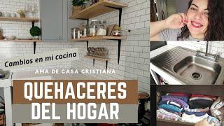 QUEHACERES DEL HOGAR DE AMA DE CASA| CAMBIOS EN MI COCINA|ROPA MODESTA DE GYM