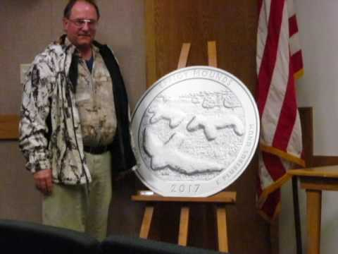 Effigy Mounds National Monument Parks Quarter Dedication with McKee Coins