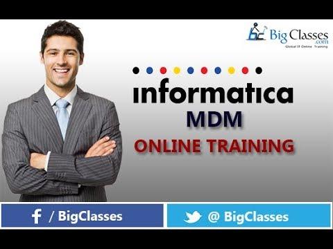 INFORMATICA MDM Training Tutorial For Beginners - Bigclasses