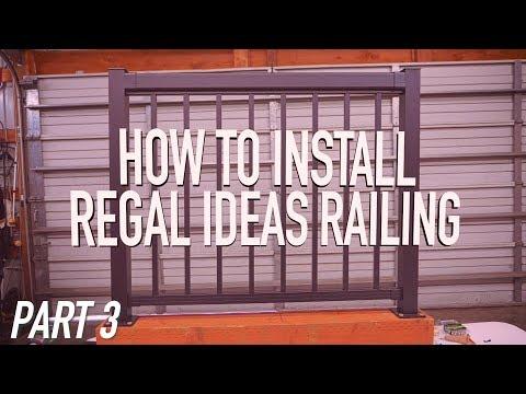 How To Install Regal Ideas Railing PART 3: Pickets || Dr Decks