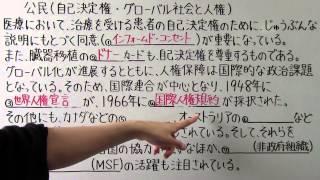 【社会】  公民-16  自己決定権 ・ グローバル社会と人権