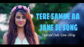 Tere Samne Aa Jane Se Ye Dil Mera Dhadka Hai Song || Cute Love Story || Shoot On Young Lovers