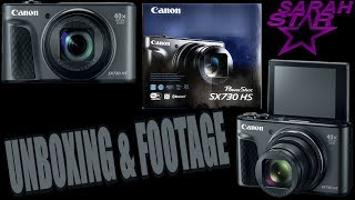 New Canon PowerShot SX730 HS Unboxing w/Footage