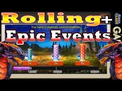 Castle Clash-(Epic Moltanica!!!)Fireworks Event + Rolling 4.9k Gems For Stephsalot