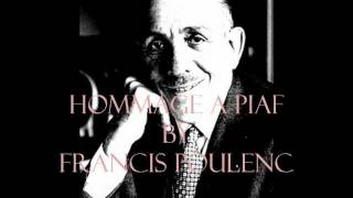 FRANCIS POULENC -Improvisation for Piano no.15 in C minor (Hommage a Edith Piaf )