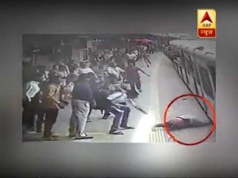 Twarit Sukh: Woman had a Narrow escape at Mumbai railway station