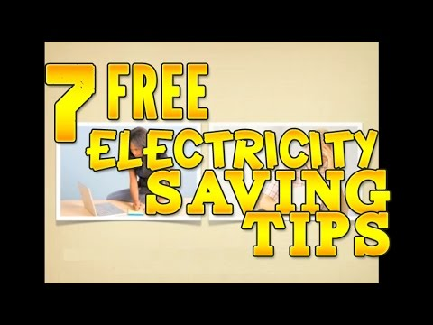 7 Free Electricity Saving Tips