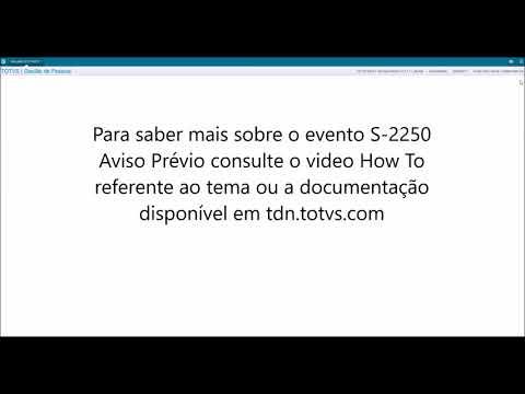 How To - Esocial Protheus RH - eSocial Eventos Não Periódicos S-2299 Desligamento