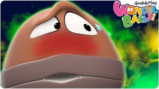 Learn Colors With Stinky Balls | WonderBalls Vivo Special Funny Cartoons For Children Toddler Video