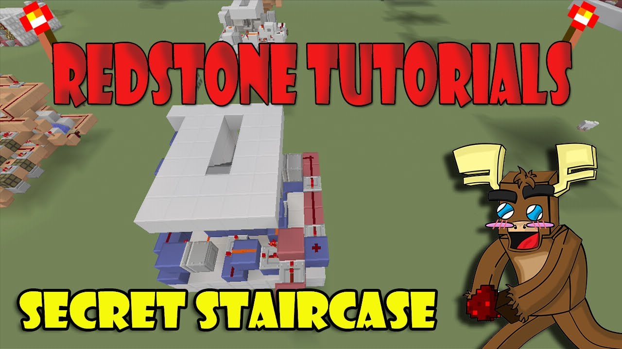 how to make a secret staircase door in minecraft