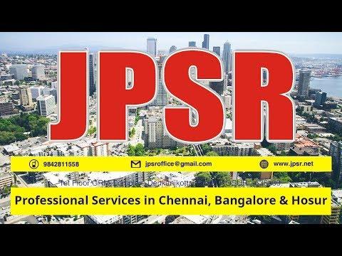 Professional Services in Chennai, Bangalore & Hosur at JPSR Enterprises