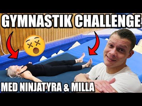 GYMNASTIK CHALLENGE MED NINJATYRA & MILLA