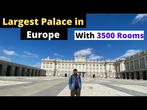 LARGEST PALACE IN EUROPE - The Royal palace of Madrid, Spain