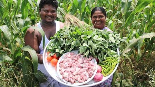 Gongura Mutton Curry | Delicious Mutton Curry | Country foods