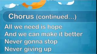 Music: Count Us In 2015 Lyric Video Marcia