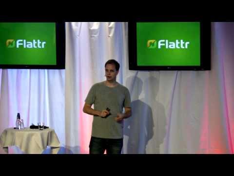 Peter Sunde föreläser på Camp Digital, om när nya teknologier utmanar gamla affärsmodeller