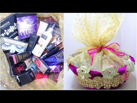 How To Gift Basket for Makeup / karwachauth / Wedding / Diwali / Festivals / Chocolate