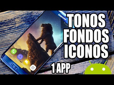 INCREIBLE APLICACION PARA TONOS Y FONDOS E ICONOS PARA TU CELULAR // 2018