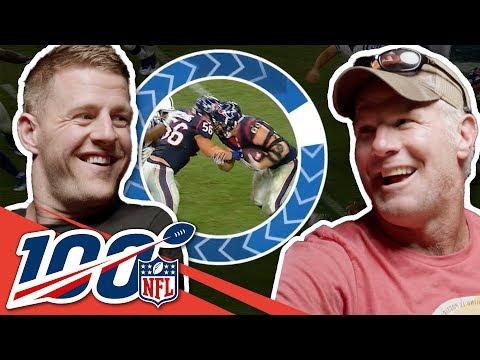 Brett Favre & J.J. Watt Bond Over Packer Pride   NFL 100 Generations