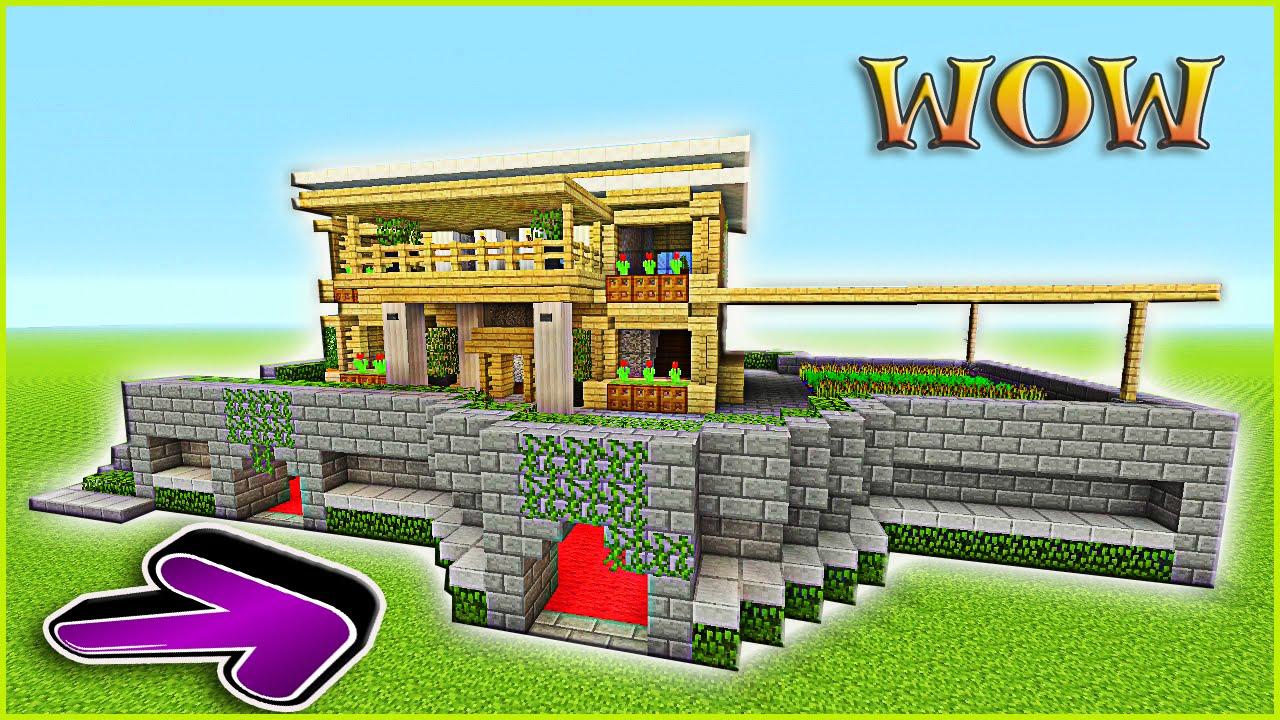 Minecraft Tutorial: How To Build A Suburban House | Minecraft Survival  House | Birch