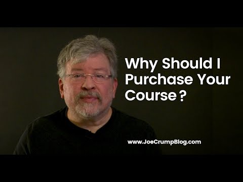 Why Should I Purchase Your Course Instead Of Theirs?