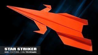 PAPER STARSHIP for KIDS - How to make a paper airplane that FLIES FAR | Star Striker
