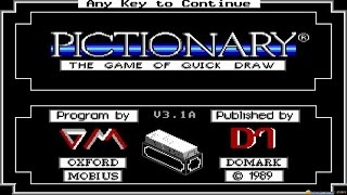 Pictionary gameplay (PC Game, 1989)