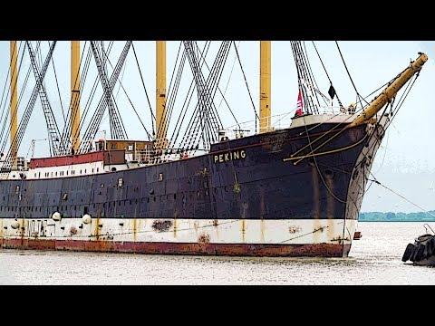 Segelschiff Peking erreicht Hamburg | Ausdocken Brunsbüttel und Sperrwerkspassage