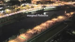 Veja imagens aéreas de protesto em SP