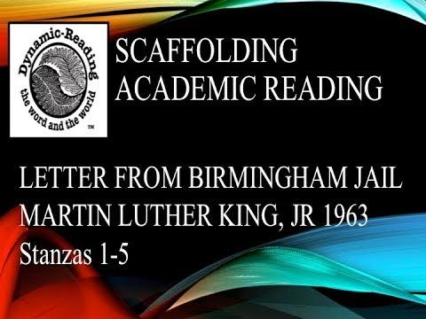 MLK Letter from Birmingham Jail Stanzas 1-5