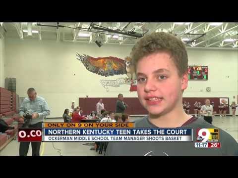 NKY teen with autism takes the court
