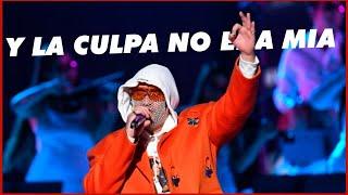 """Bad Bunny Canta """"y La Culpa No Era Mia"""""""