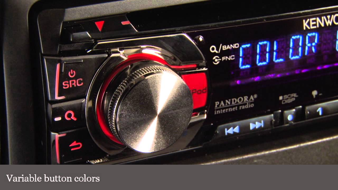Kenwood Kdc 352u Cd Receiver Display And Controls Demo