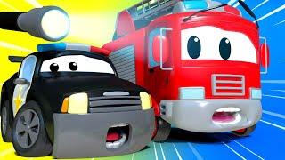 Der Streifenwagen in Autopolis -  Das Spielhaus - Autopolis 🚒 Lastwagen Zeichentrickfilme für Kinder