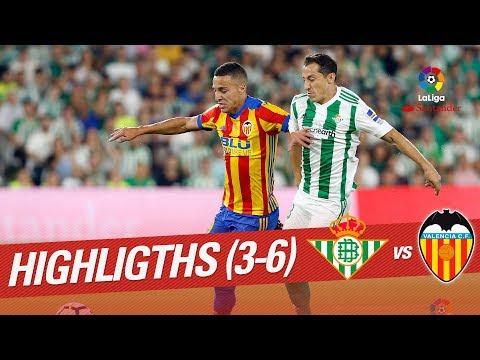 Resumen de Real Betis vs Valencia CF (3-6)