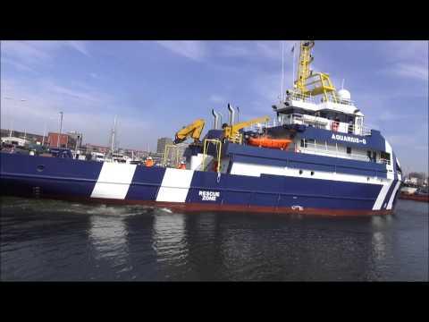 AQUARIUS-G het nieuwe offshore vaartuig van rederij groen april 24, 2013