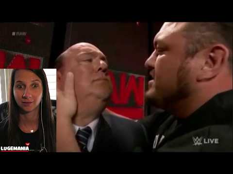 WWE Raw 6/26/16 Paul Heyman and Samoa Joe Backstage