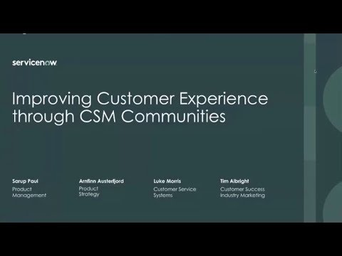 Improving customer experience through Communities