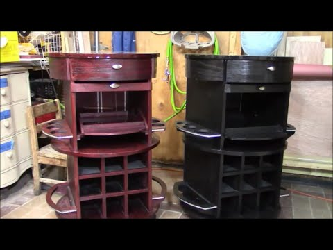 Home mini bar diy part 1 of 2 youtube for How to build a mini bar cabinet