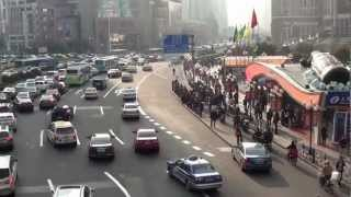 Traffic Congestion in Shanghai, China