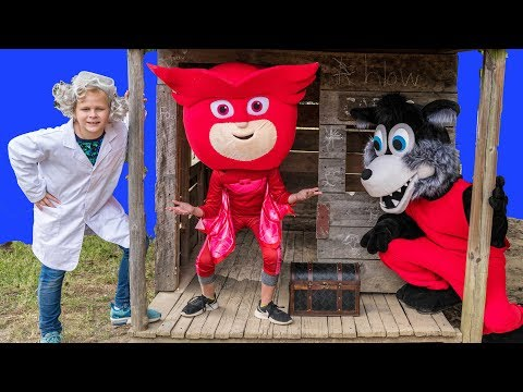 Assistant Romeo works With PJ Masks Owlette to find his Treasure