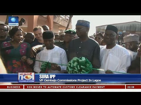Osinbajo Commissions Project In Lagos 27/10/18 Pt.3 | News@10 |