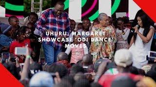 WATCH!!  Uhuru and Margaret do 'Odi Dance' move