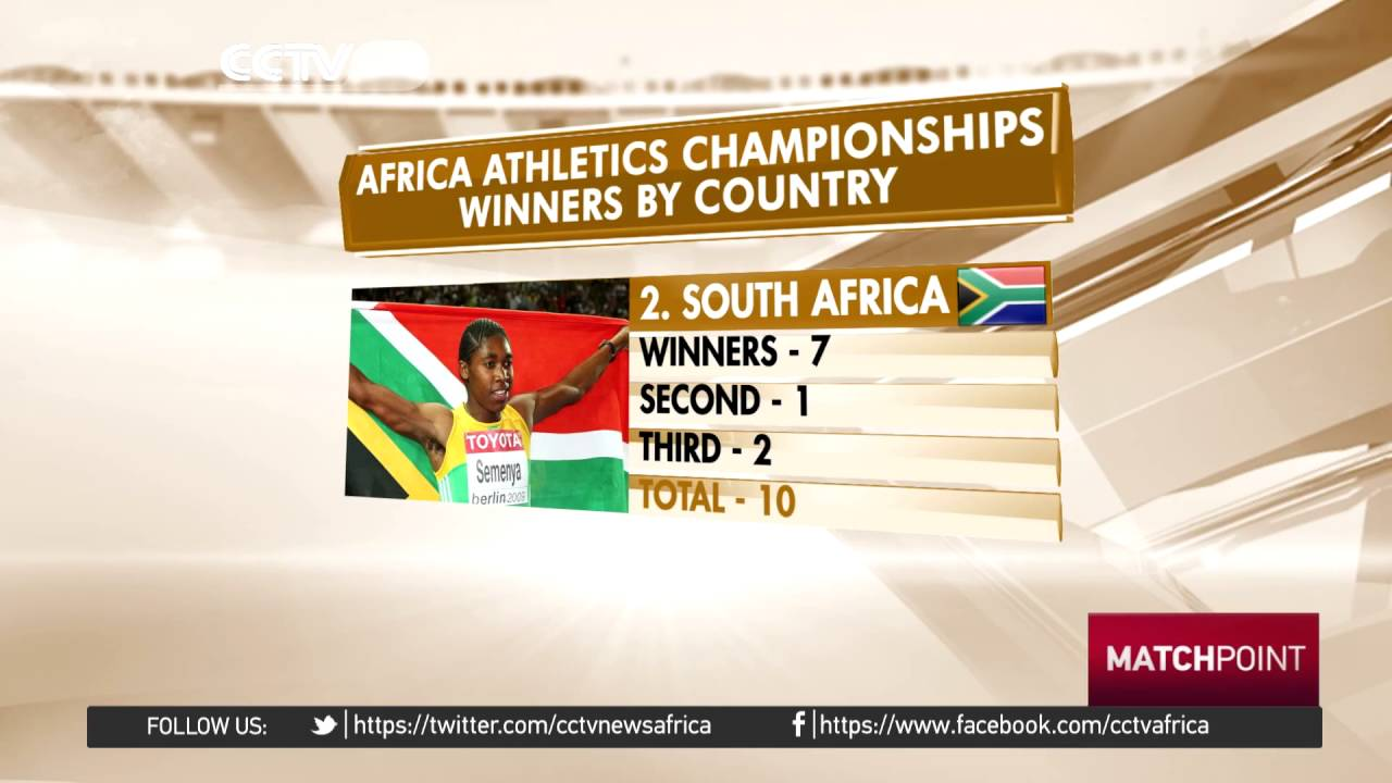 African Athletics Championship winners by Country.