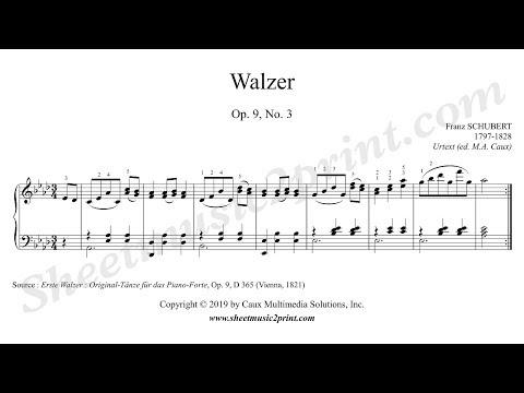 Walzer Op.11 No. 3 D Major - Piano