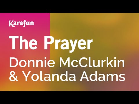 Karaoke The Prayer - Donnie McClurkin *