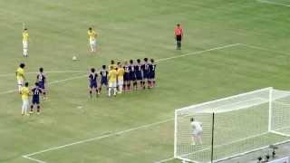Japan vs Brazil Neymar JR Free Kick on October 14, 2014