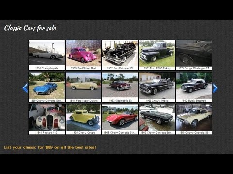 Classic Cars, Muscle Cars, And Restoration Projects For Sale #VNclassics