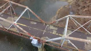 Flight over Gasconade River Bridge, Route 66, Jerome, Missouri December 2016